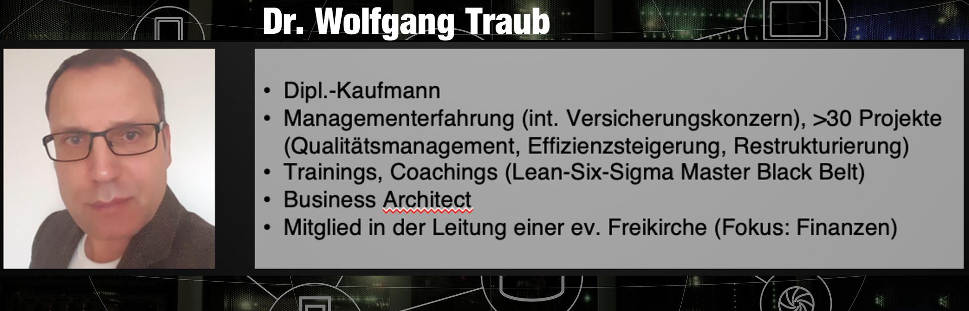Dr Wolfgang Traub